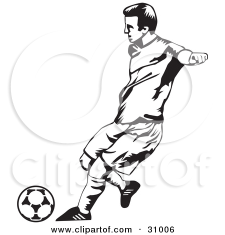 450x470 Soccer player clipart black and white
