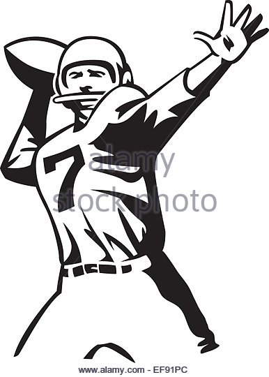 386x540 Throwing Football Cartoon Stock Vector Images