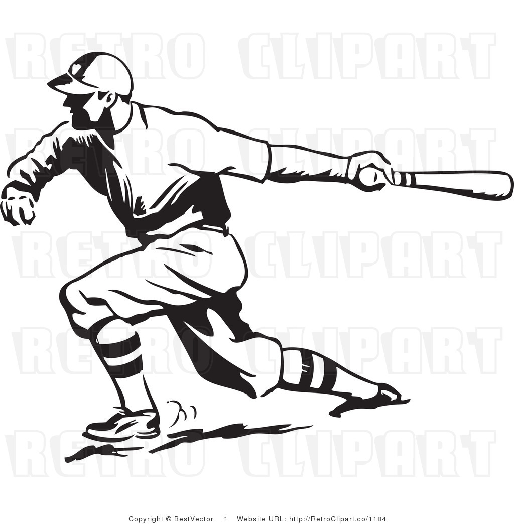 1024x1044 Vintage Football Player Clipart