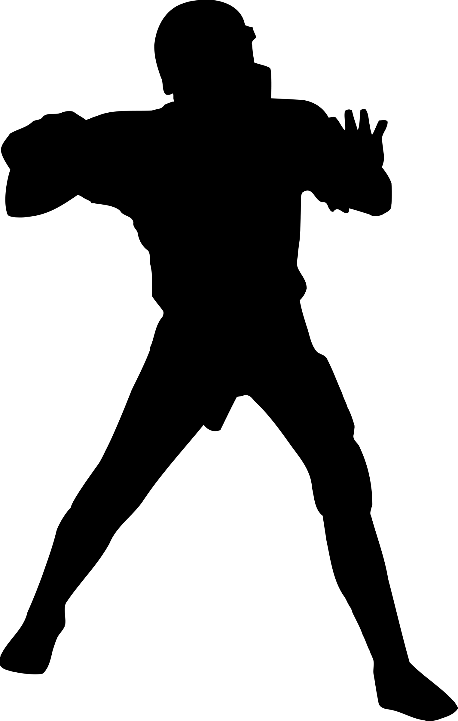 1524x2400 Clipart Football Players Silhouette