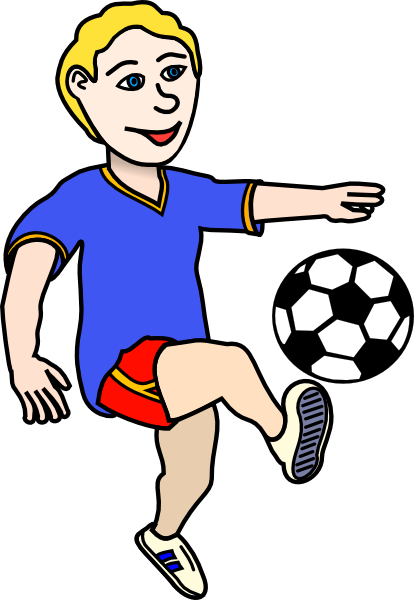 414x600 Football Player Clip Art