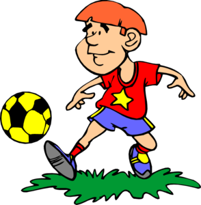 294x300 Football Player Boys Playing Football Clipart Clipart Image