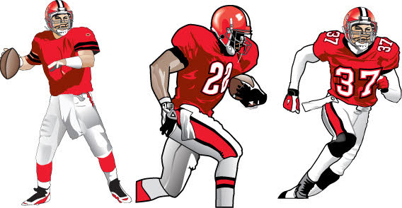 568x294 Football Player Clip Art Football Player Clipart Photo