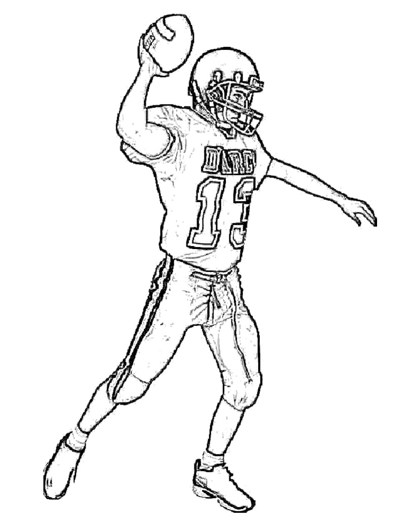 800x1035 Football Player Coloring Pages