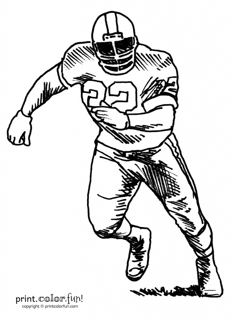 744x1024 Football Player Drawing