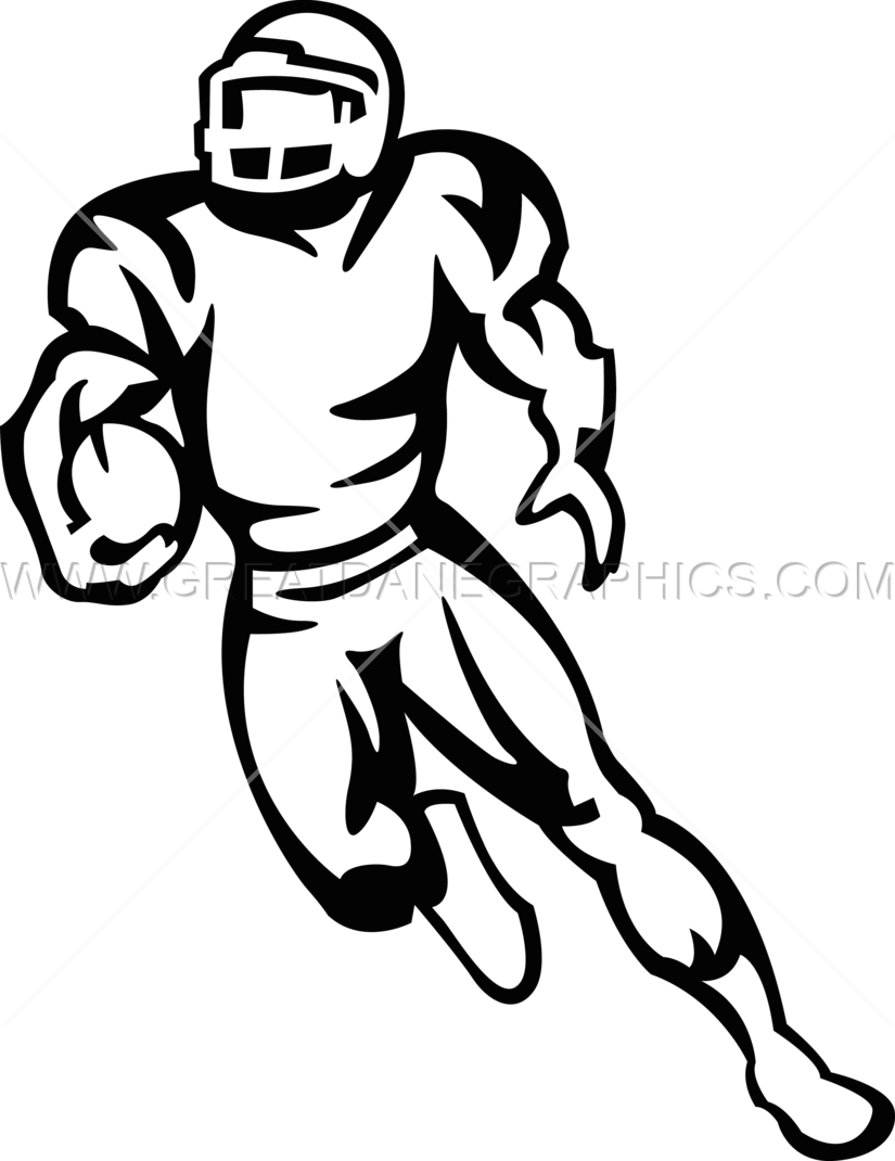 825x1070 Football Player Running Production Ready Artwork For T Shirt