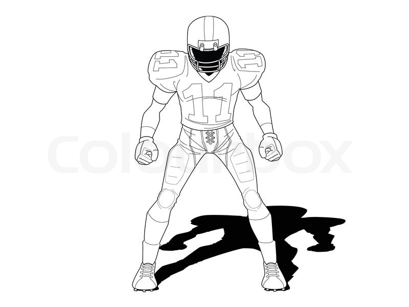 800x600 Football player Stock Vector Colourbox