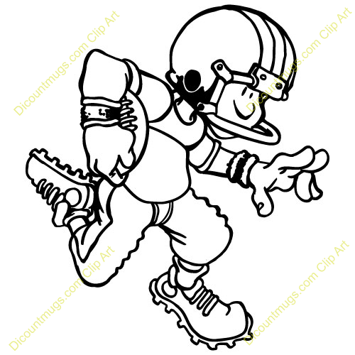 500x500 Kid Football Player Clipart