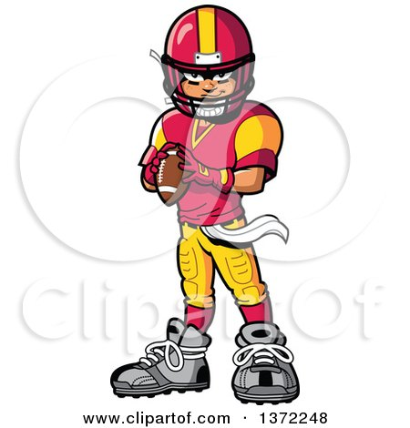 450x470 standing football player clipart