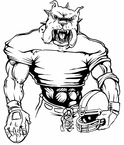 478x558 Bulldog Clipart Football Player