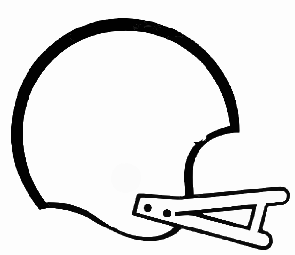 600x519 Football Outline Clipart Craft Projects, Black And White Clipart