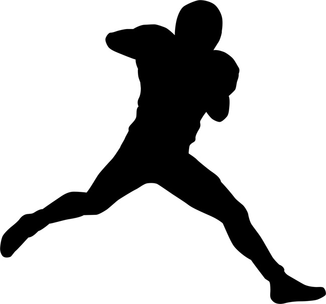 650x607 Football Player 02 Silhouette Stencils