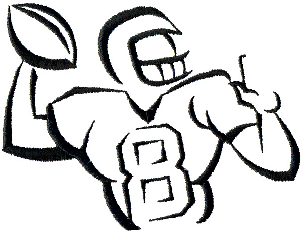 600x462 Football Player Outline Clipart Panda