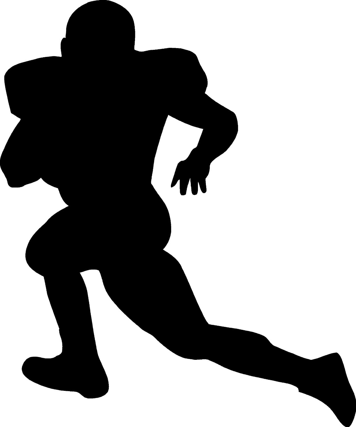 1250x1500 Football Clipart Silhouette