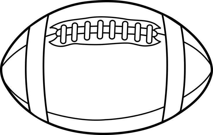 736x465 Football Outline Clipart 2