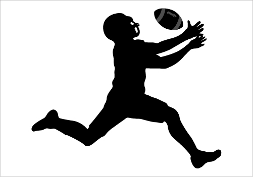 501x351 Silhouette Clipart Football