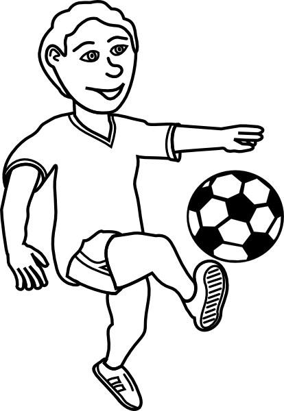 414x600 Soccer Player Outline Clip Art