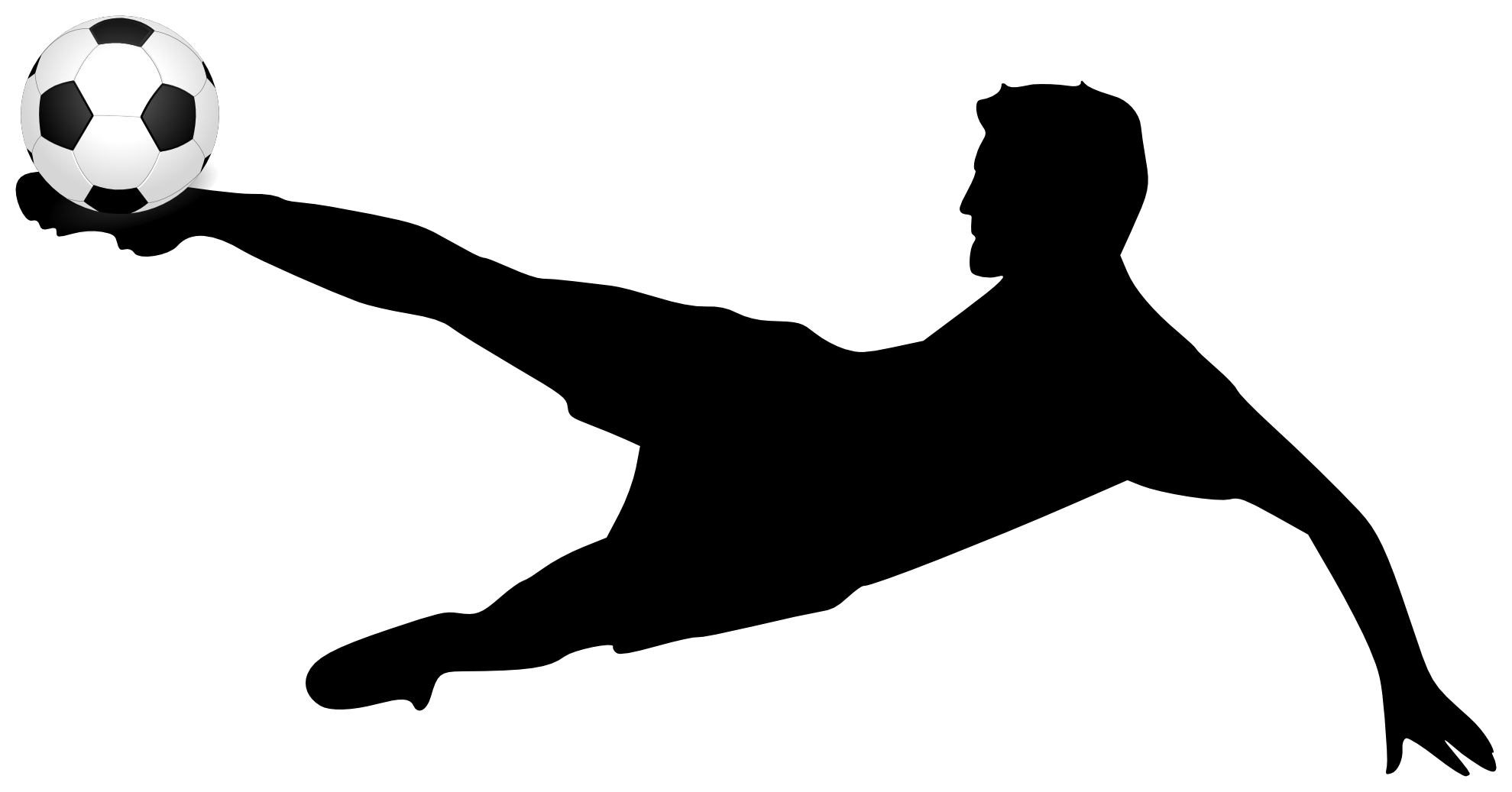 1979x1037 Soccer Player Outline Clipart