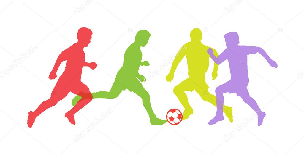 1024x524 Soccer players silhouettes. Vector Soccer Players. Olympic Games
