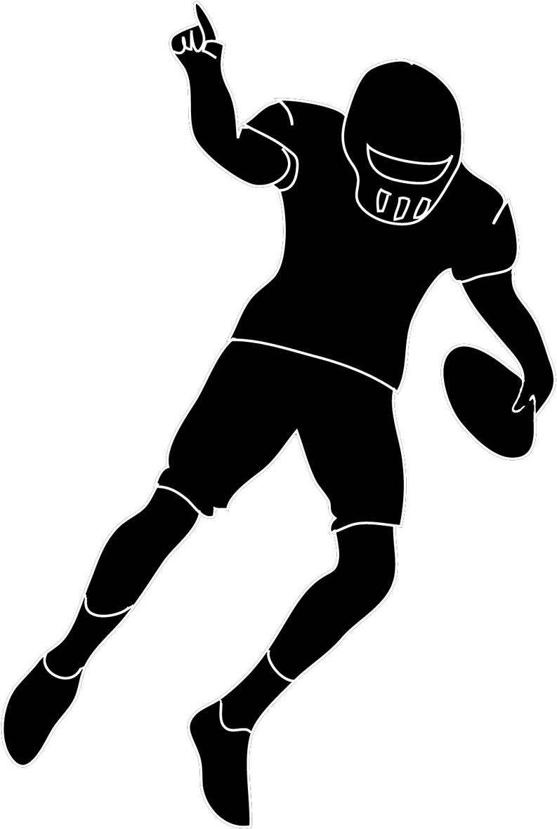 793x1181 Top Football Player Outline Clipart File Free