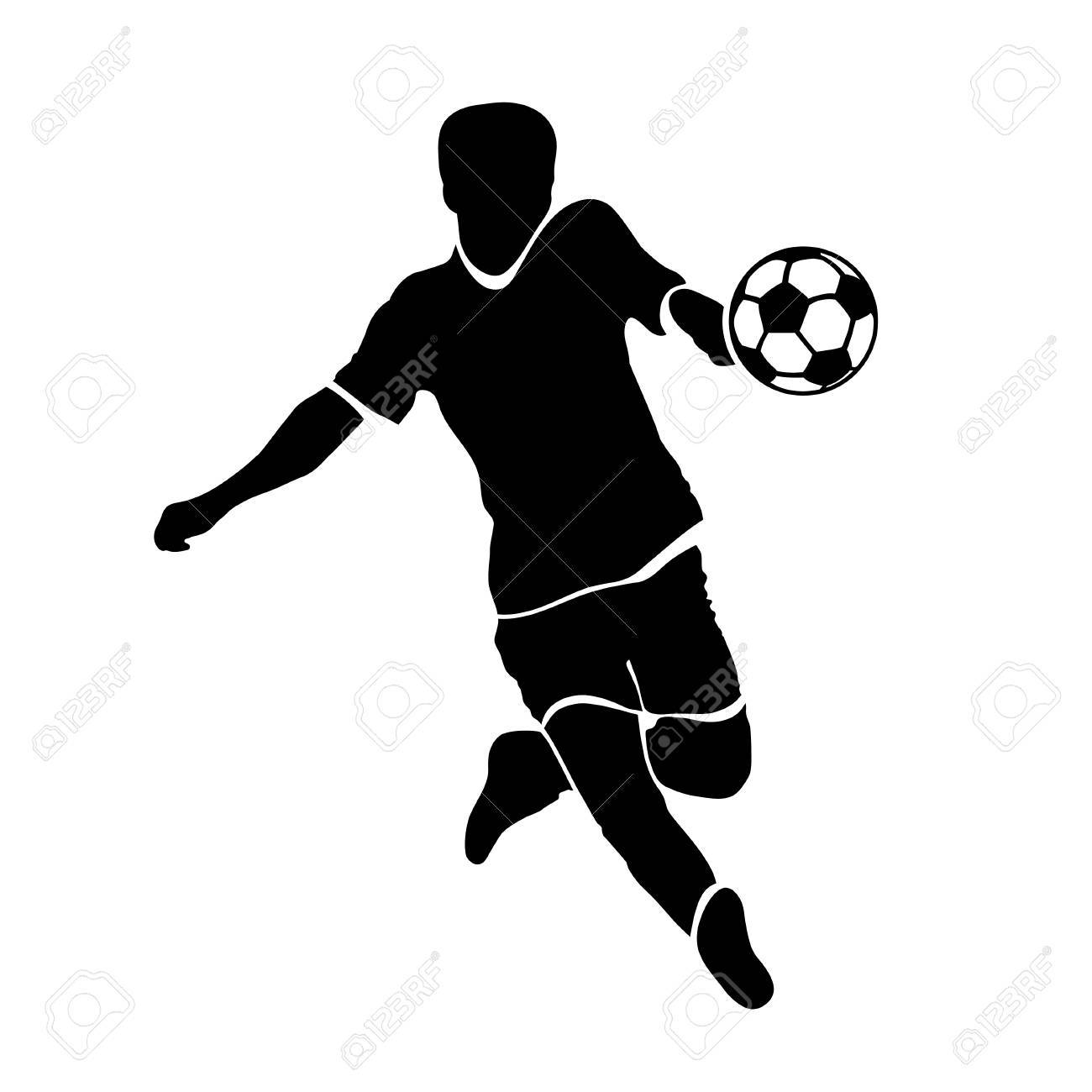 1300x1300 Cute Football Soccer Player Silhouette Recycling Water Systems