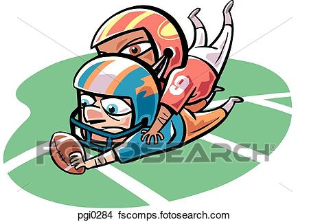 450x323 Drawings of A football player tackling down another pgi0284