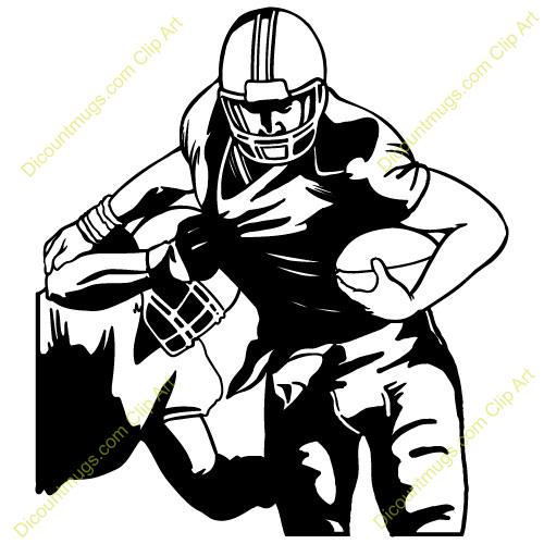 500x500 Football Player Tackling Clip Art (40+)