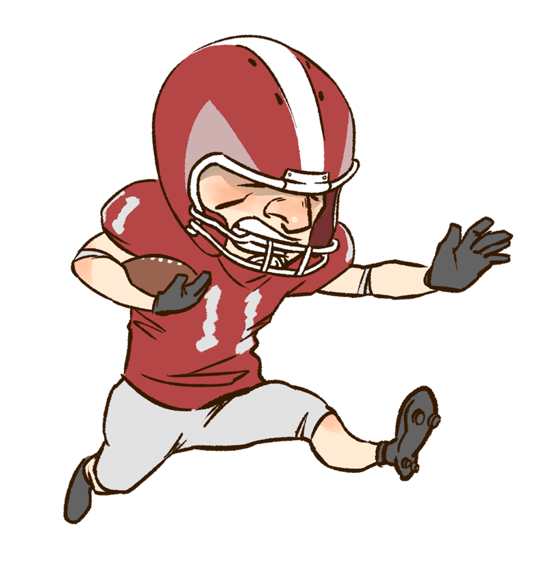 800x820 Football player clip art