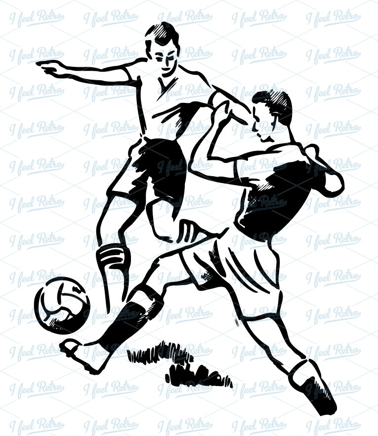 765x881 Retro Clipart Soccer Duel