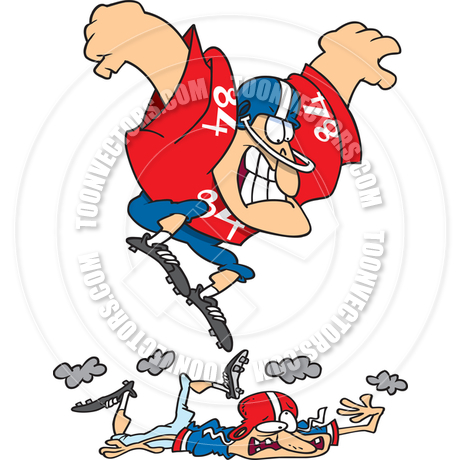 460x460 Cartoon Football Player Stomp by Ron Leishman Toon Vectors EPS