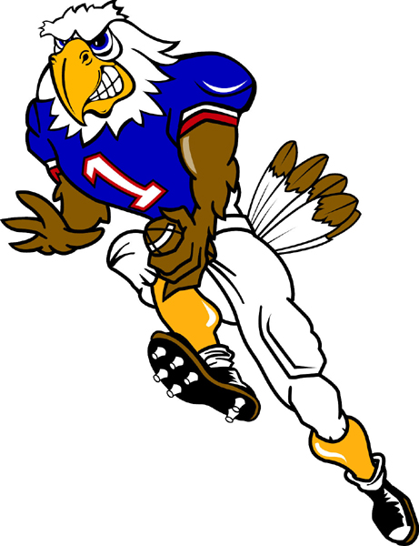461x600 Eagle Football Player Clipart