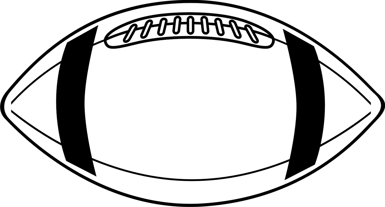 1600x860 Football Clipart Black And White