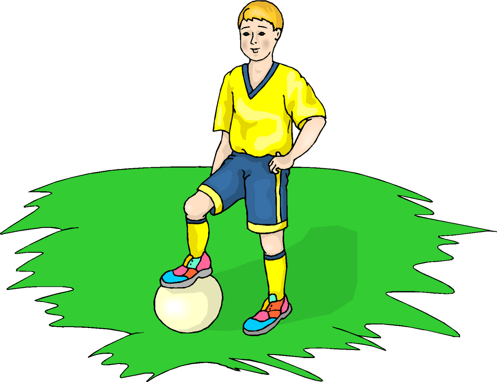 1600x1232 Kid football player clipart free images 4