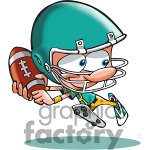 300x300 American football player cartoon 390782 vector clip art image