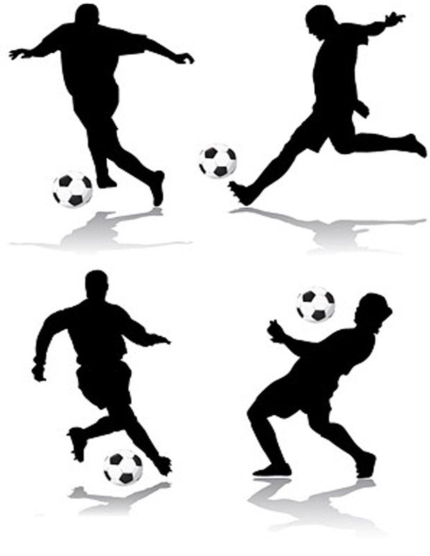 Football Silhouette Clipart