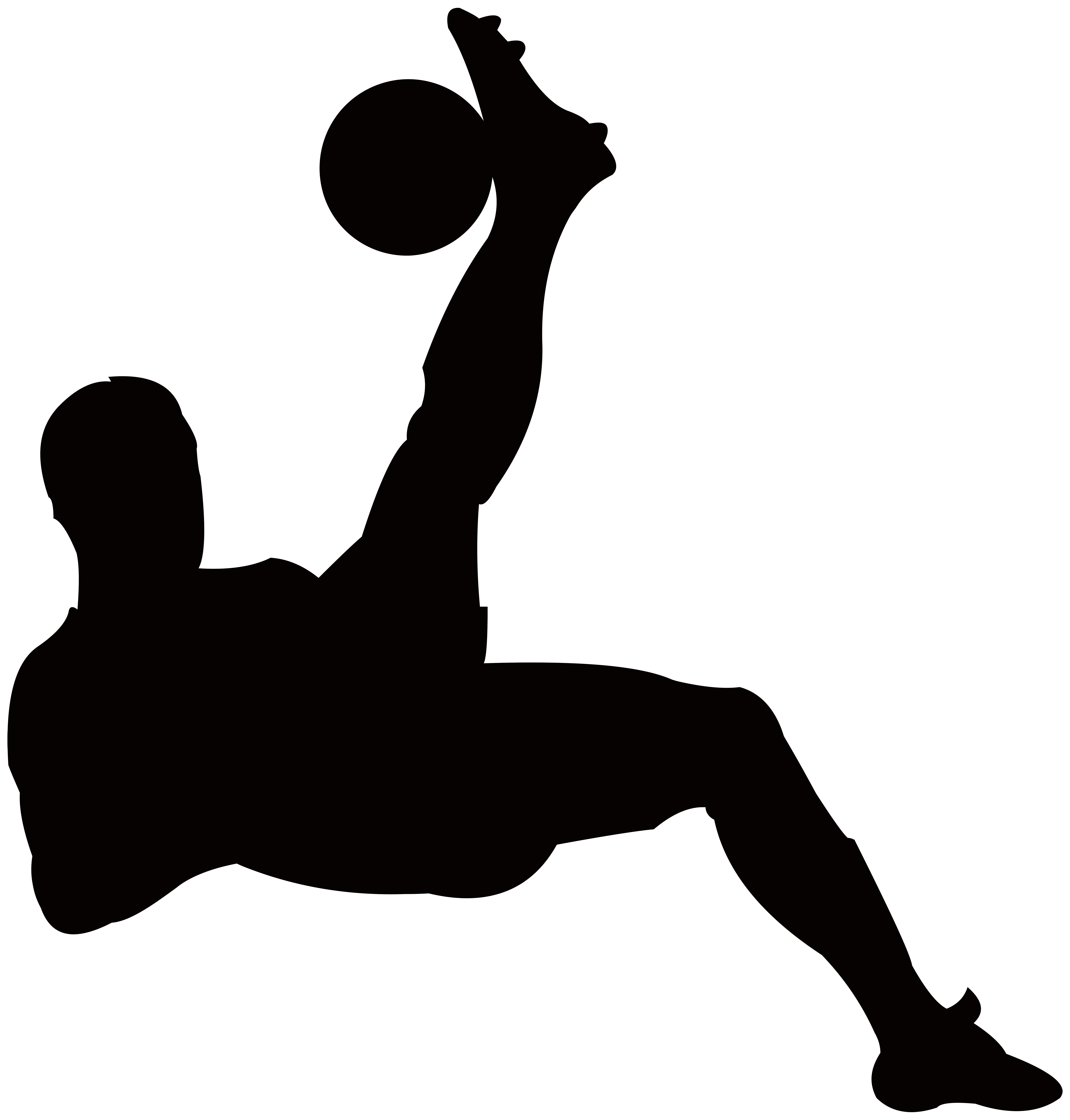 7645x8000 Player Silhouette Transparent Png Clip Art Image