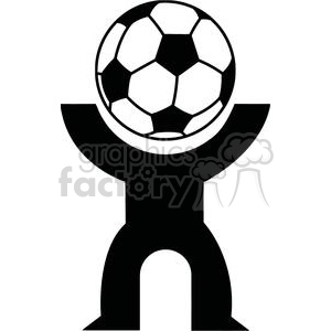 300x300 Royalty Free 2521 Royalty Free Abstract Silhouette Soccer Player