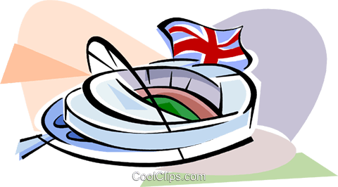 480x266 New Wembley Stadium Royalty Free Vector Clip Art illustration