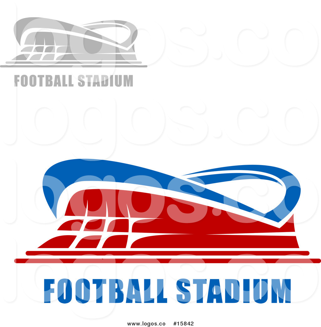 1024x1044 Royalty Free Vector Logo of Football Stadiums with Sample Text by