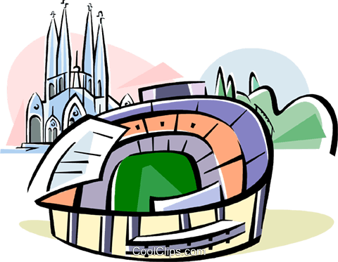 480x373 Spain Nou Camp Stadium Barcelona Royalty Free Vector Clip Art