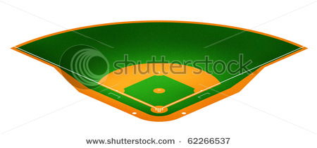 450x210 Art Picture Of A Baseball Field In This Stock Photo