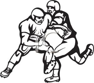 300x266 Football Player Tackling Clipart Clipart Panda