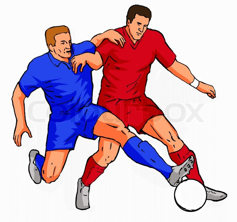 800x747 Soccer 2 Players Tackling The Ball Stock Photo Colourbox