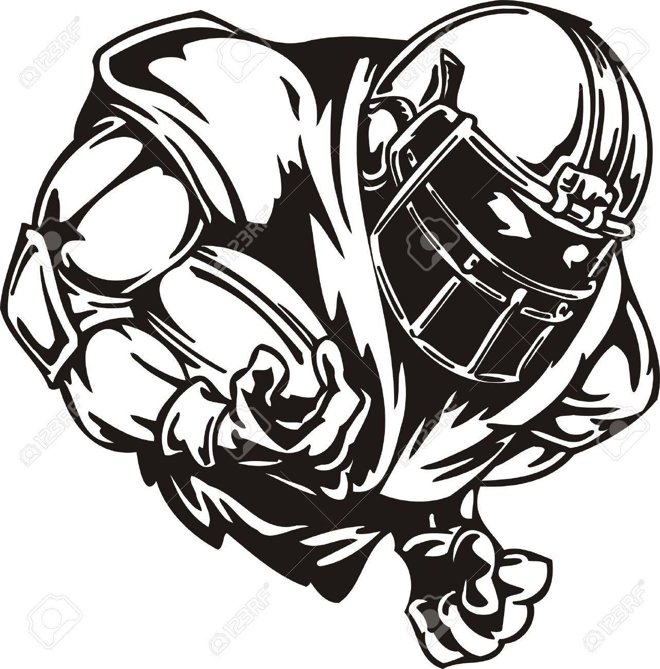 1283x1300 Football Player Tackling Clipart