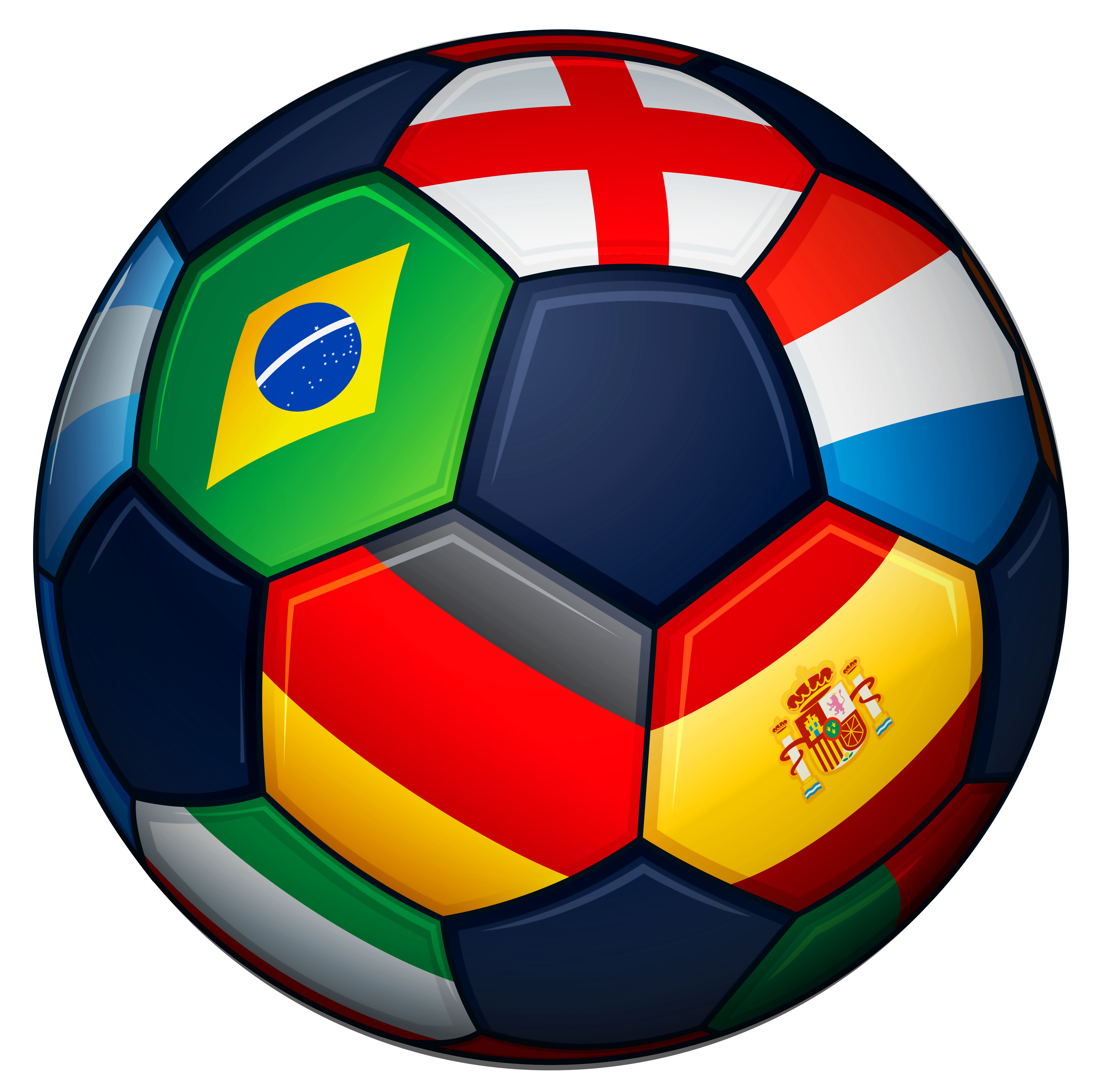4144x4136 Football With Flags Transparent Png Clipart Pictureu200b Gallery