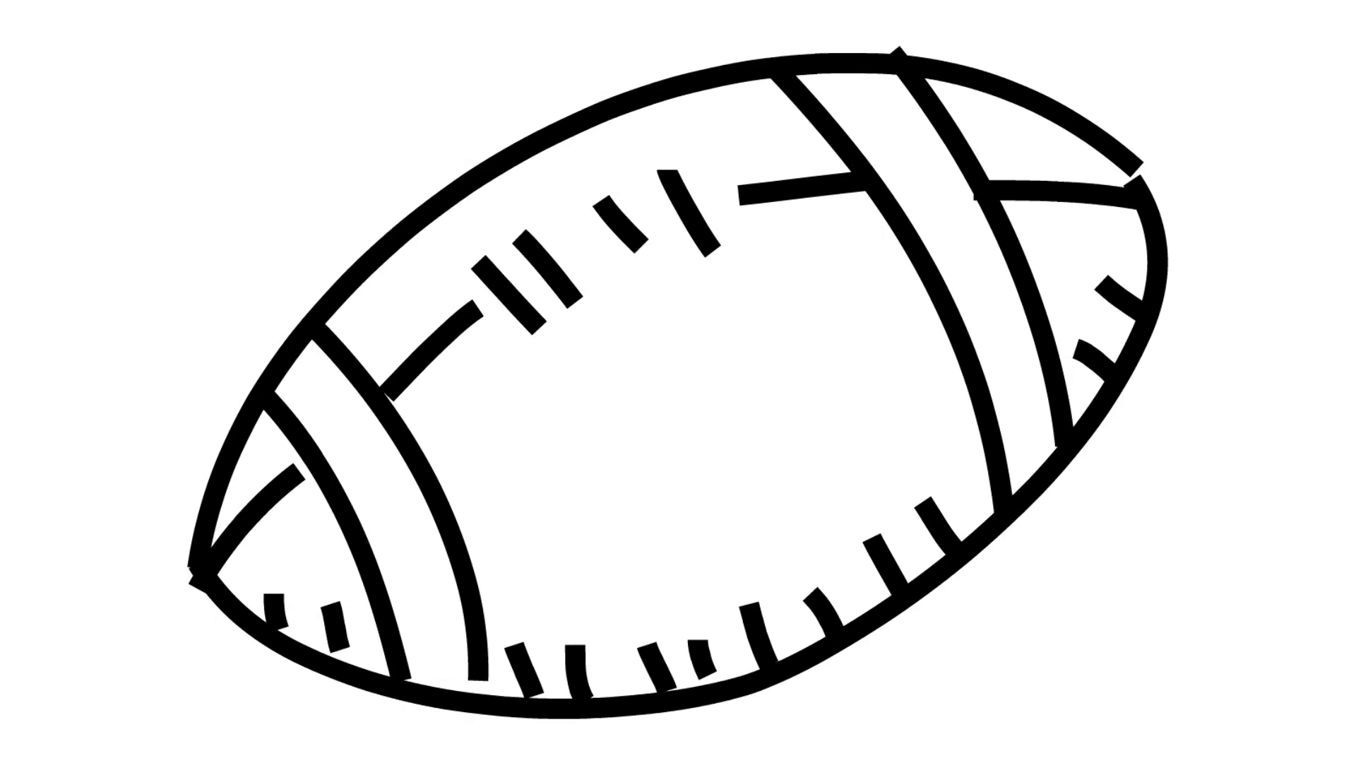 1920x1080 Football American Foot Ball Rugby Line Drawing Illustration