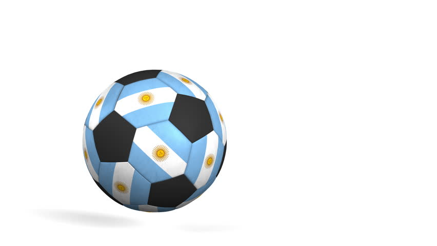 852x480 Animated Simple Soccer Balls With Yellow And Blue Material Dancing