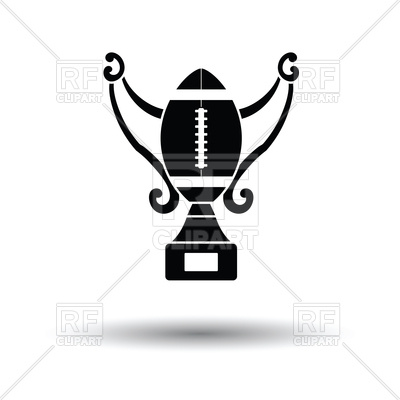 400x400 American Football Trophy Cup Icon With Shadow Royalty Free Vector