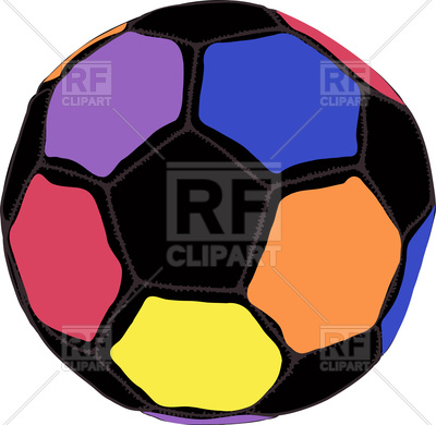 400x390 Colourful Football Ball On White Background Royalty Free Vector