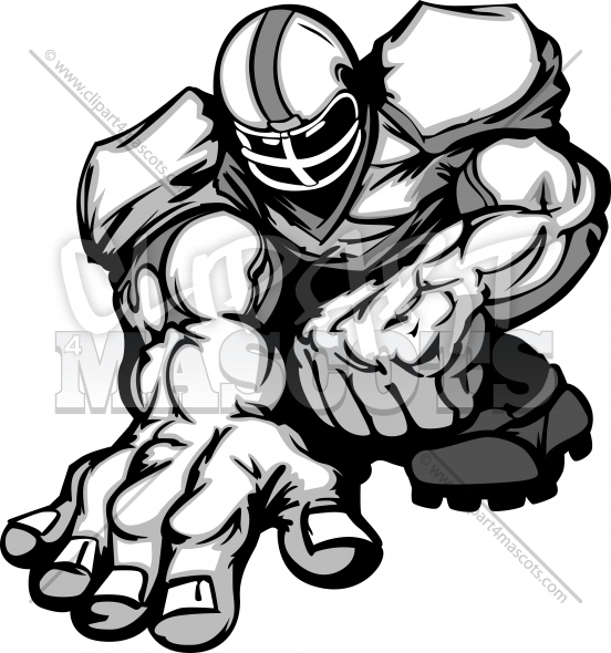 552x590 Football Player Cartoon Graphic Vector Logo